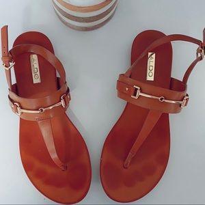 Aldo leather new flat sandals